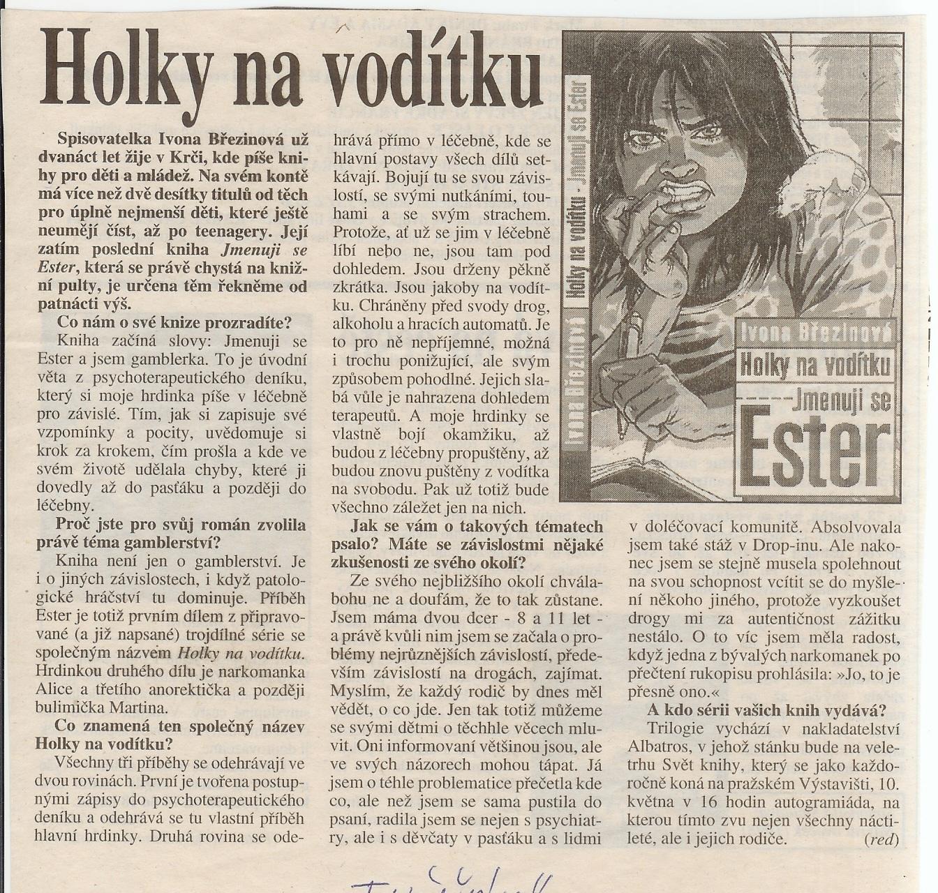 Holky na voditku_Tucnak_kveten_2002