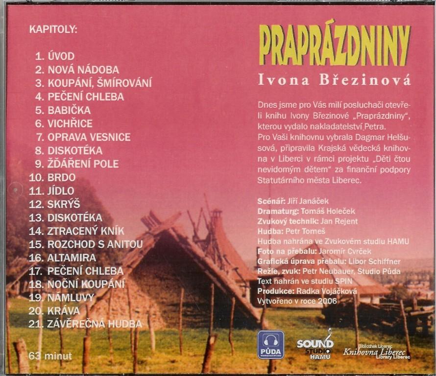 CD Praprázdniny - kapitoly