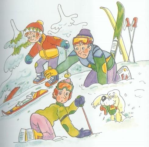 Trosečníci_Sněžný_muž_lyžaři